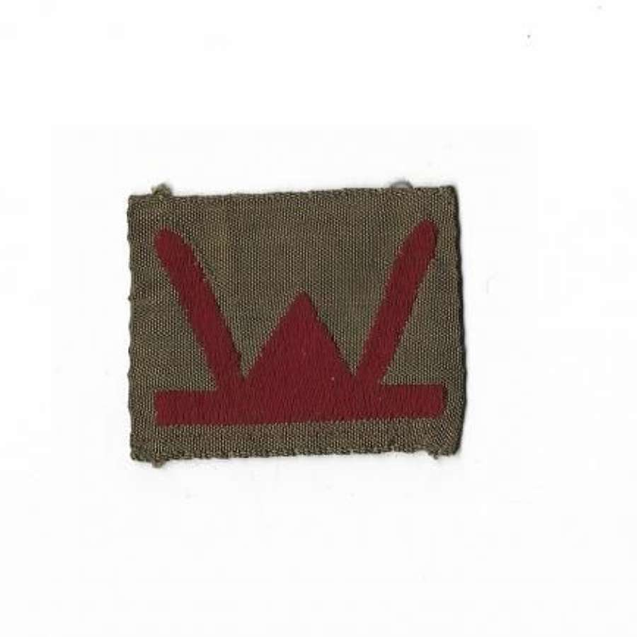 Original Late WW2 Bevo Embroidered 53 Welsh Division Formation Badge