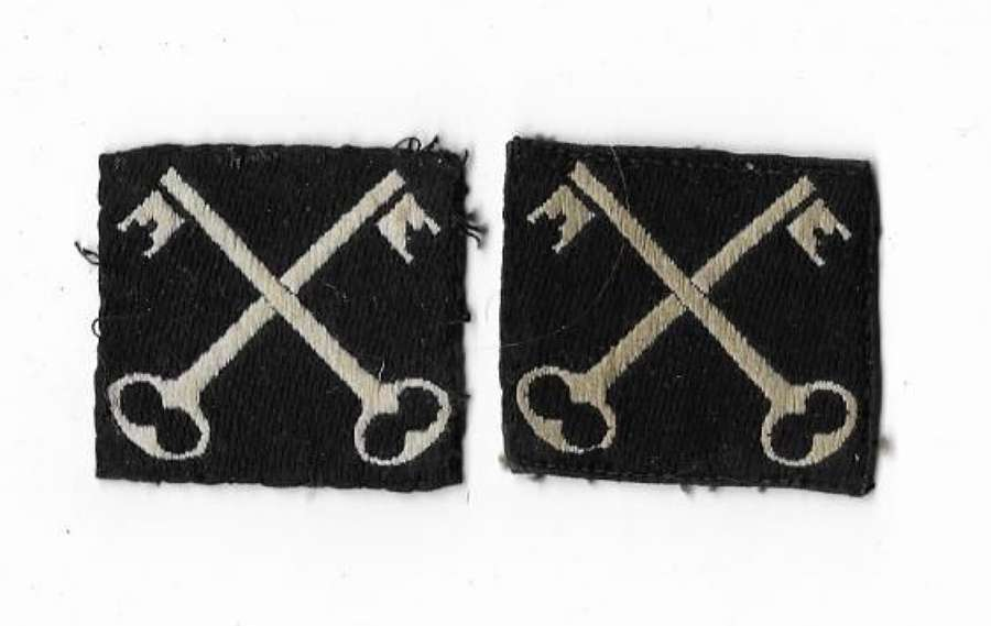Original WW2 Second Infantry Division Embroidered Formation Flashes