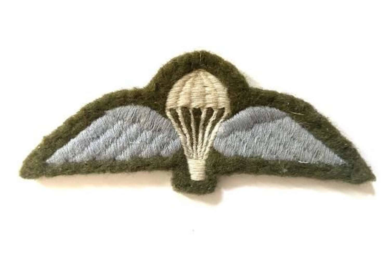 Original 1960s British Army Parachute Qualification Wing