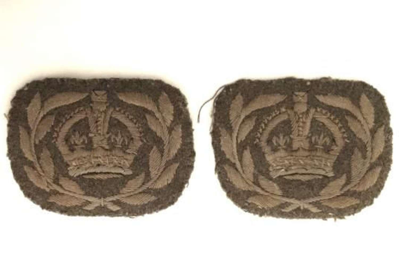 Original WW2 British Army Warrant Officers Insignia