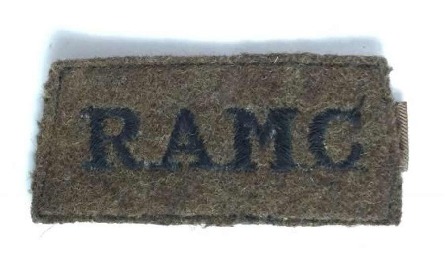 Original WW2 Royal Army Medical Corps Cloth Shoulder Title