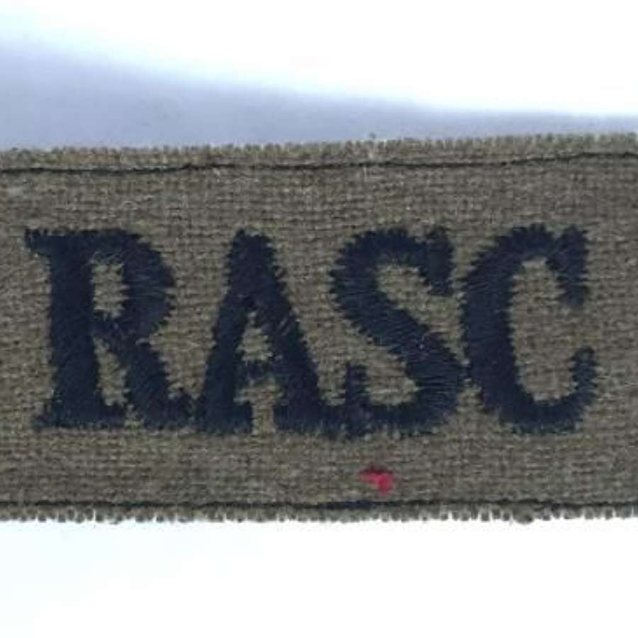 Original WW2 Royal Army Service Corps Shoulder Title
