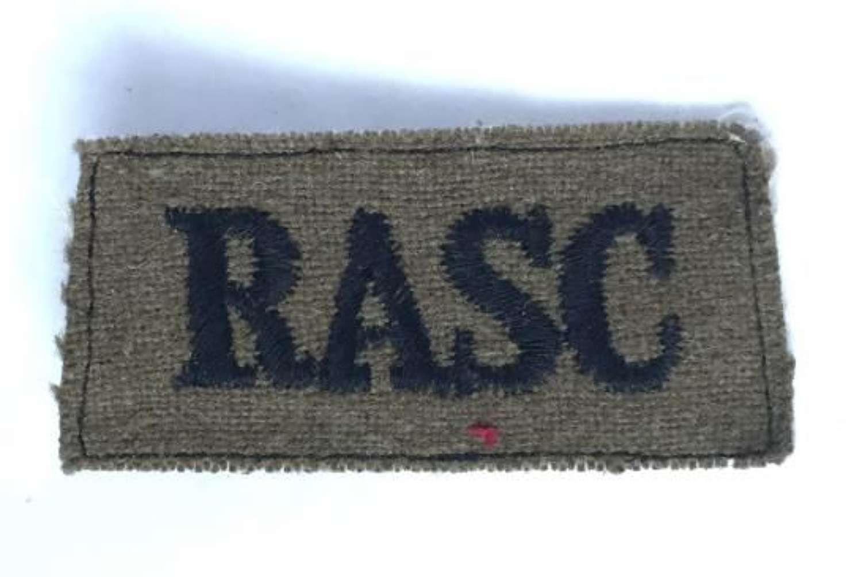 Original WW2 Royal Army Service Corps Shoulder Title