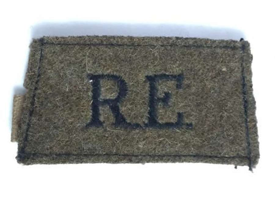 Original WW2 Royal Engineers Cloth Shoulder Title