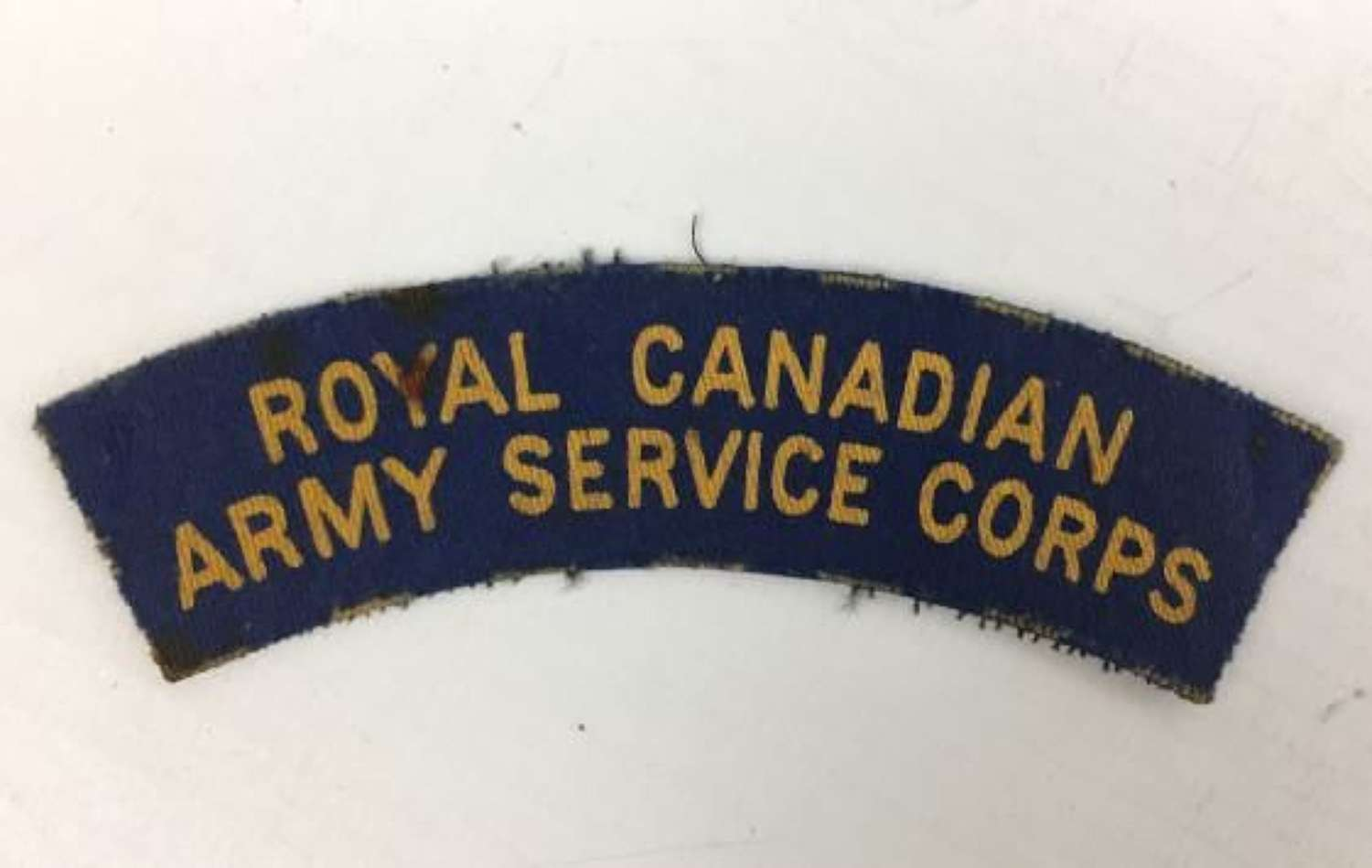 Original WW2 Royal Canadian Army Service Corps Printed Shoulder Title