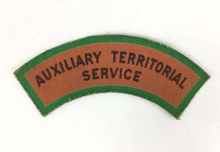 Original WW2 Printed ATS Shoulder Title