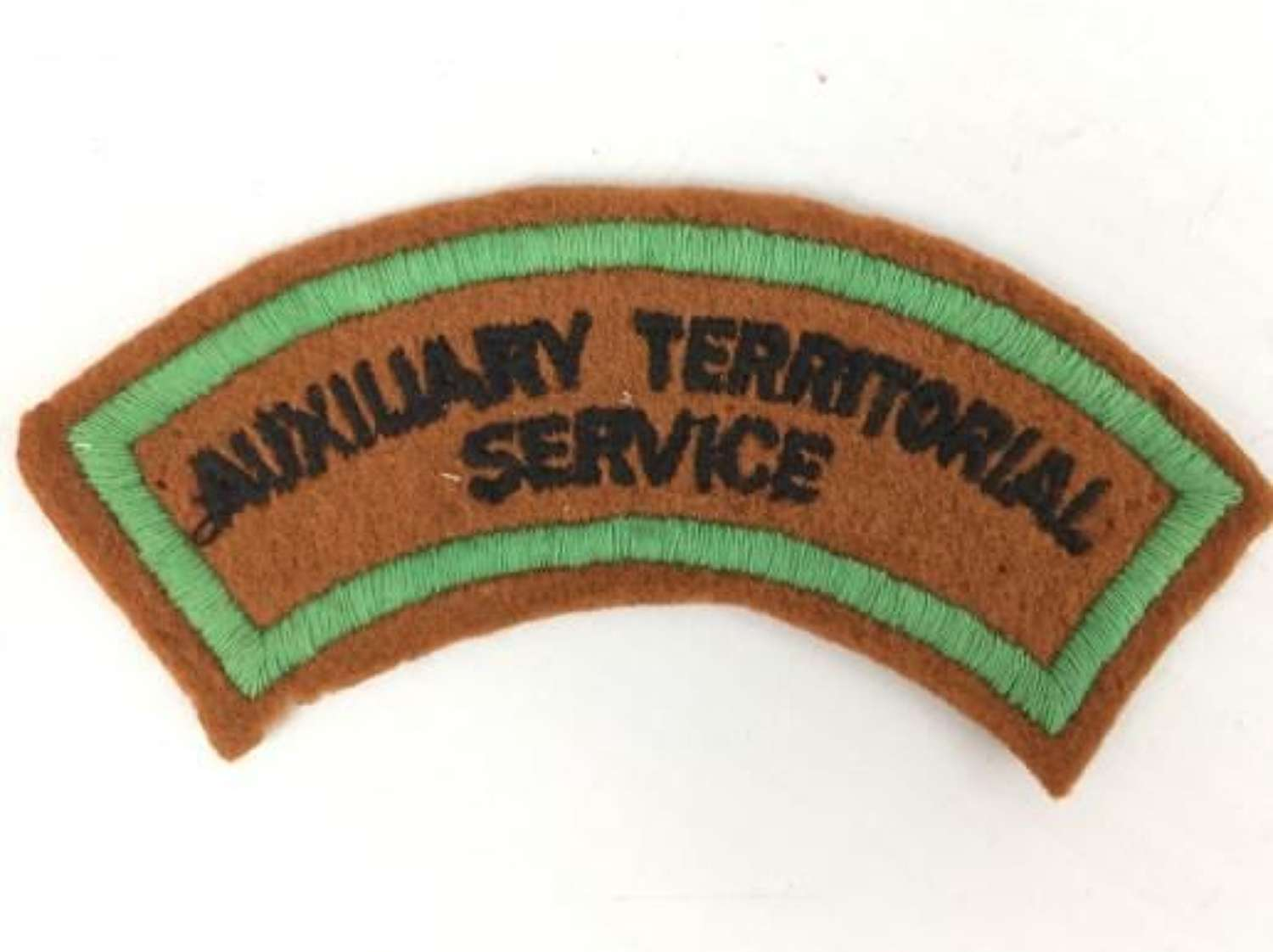 Original WW2 Embroidered ATS Shoudler Title