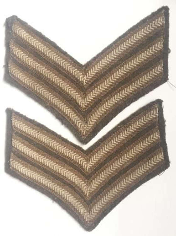 WW1 / WW2 British Army Sergeant Stripes
