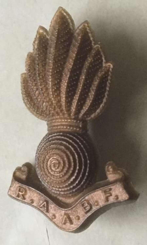Royal artillery association benevolent fund badge