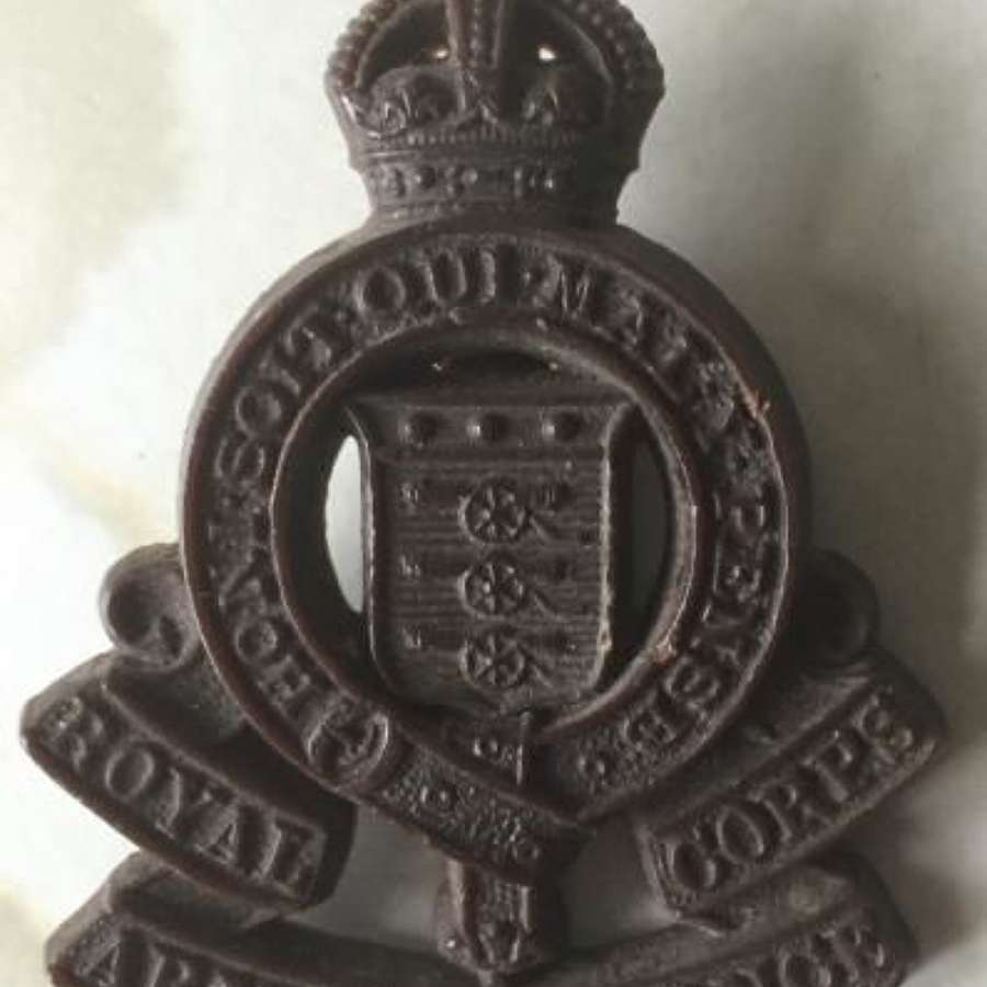 Royal Army Ordance Corp Plastic Economy Cap Badge
