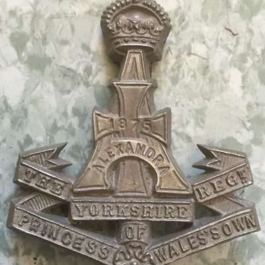 Alexandra Princess Of Wales's Own (Yorkshire Regiment) Economy Cap Badge