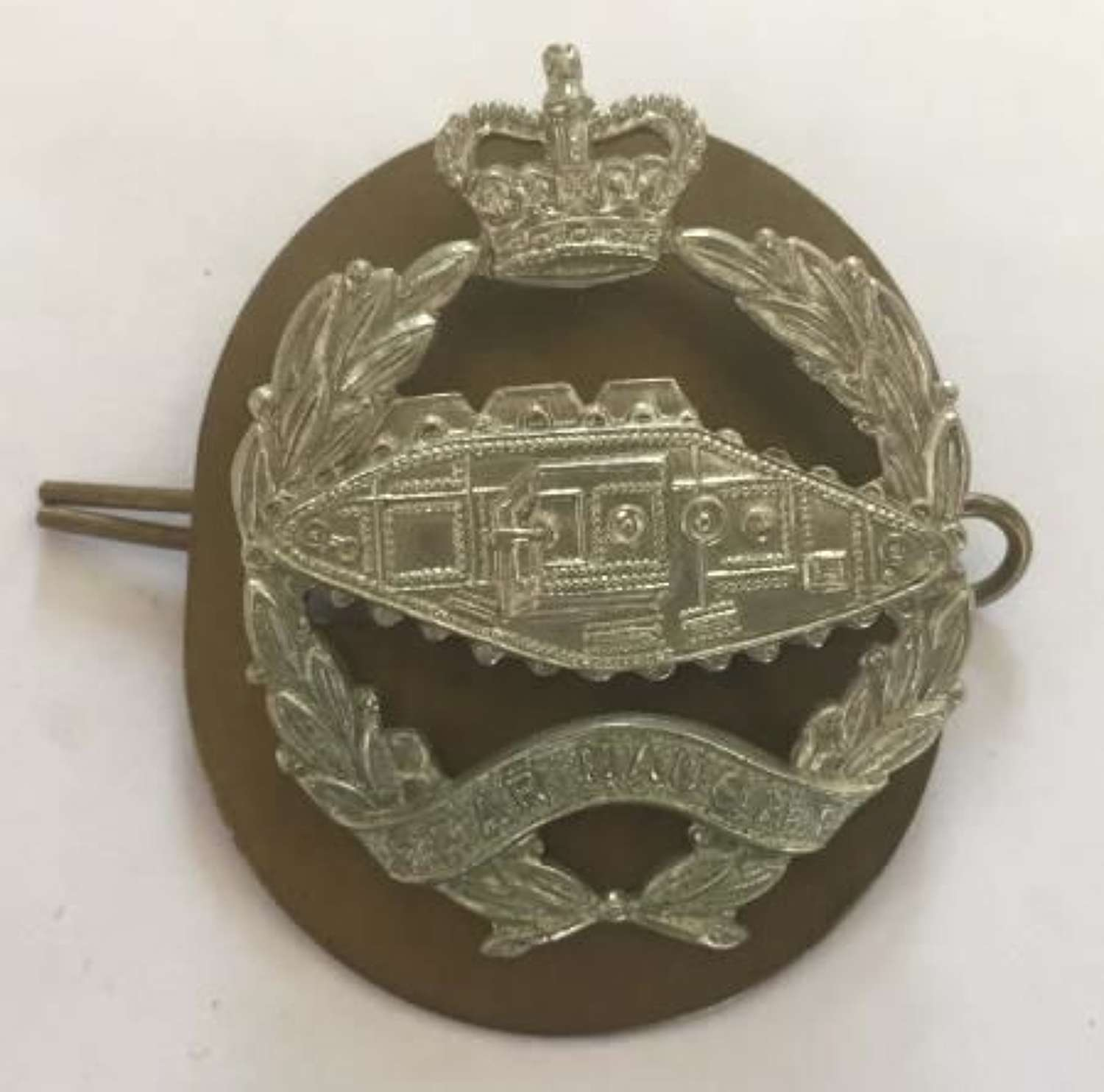 Royal Tank Regiment Cap Badge (Queens Crown)