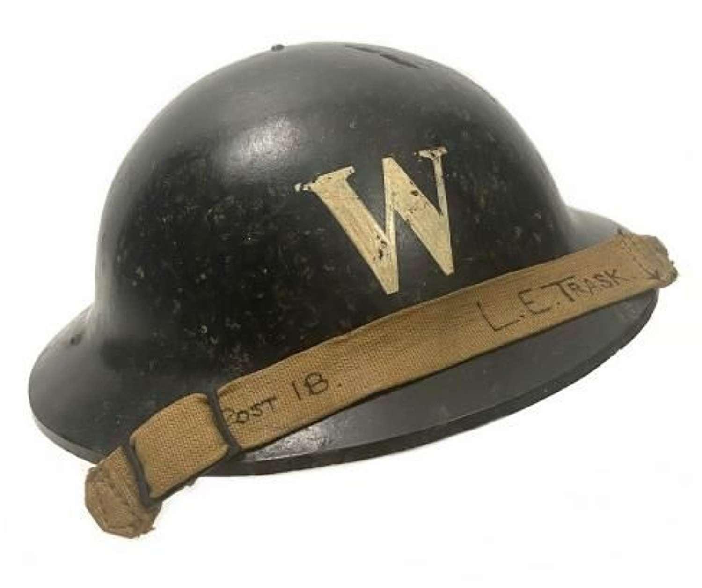 Original 1940 Dated ARP Warden's 'Plastfort' Bakelite Helmet