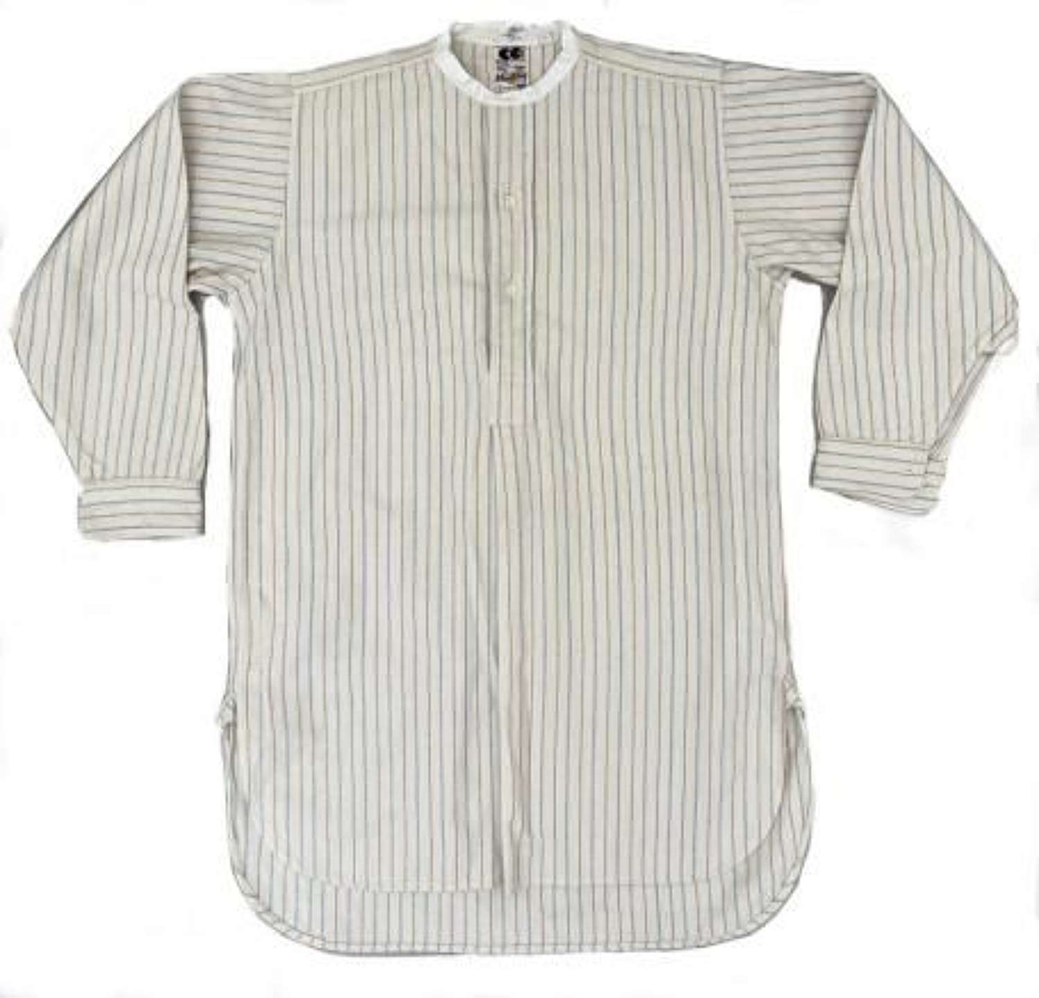 Original 1940s CC41 Mens Collarless Shirt by 'C.W.S'