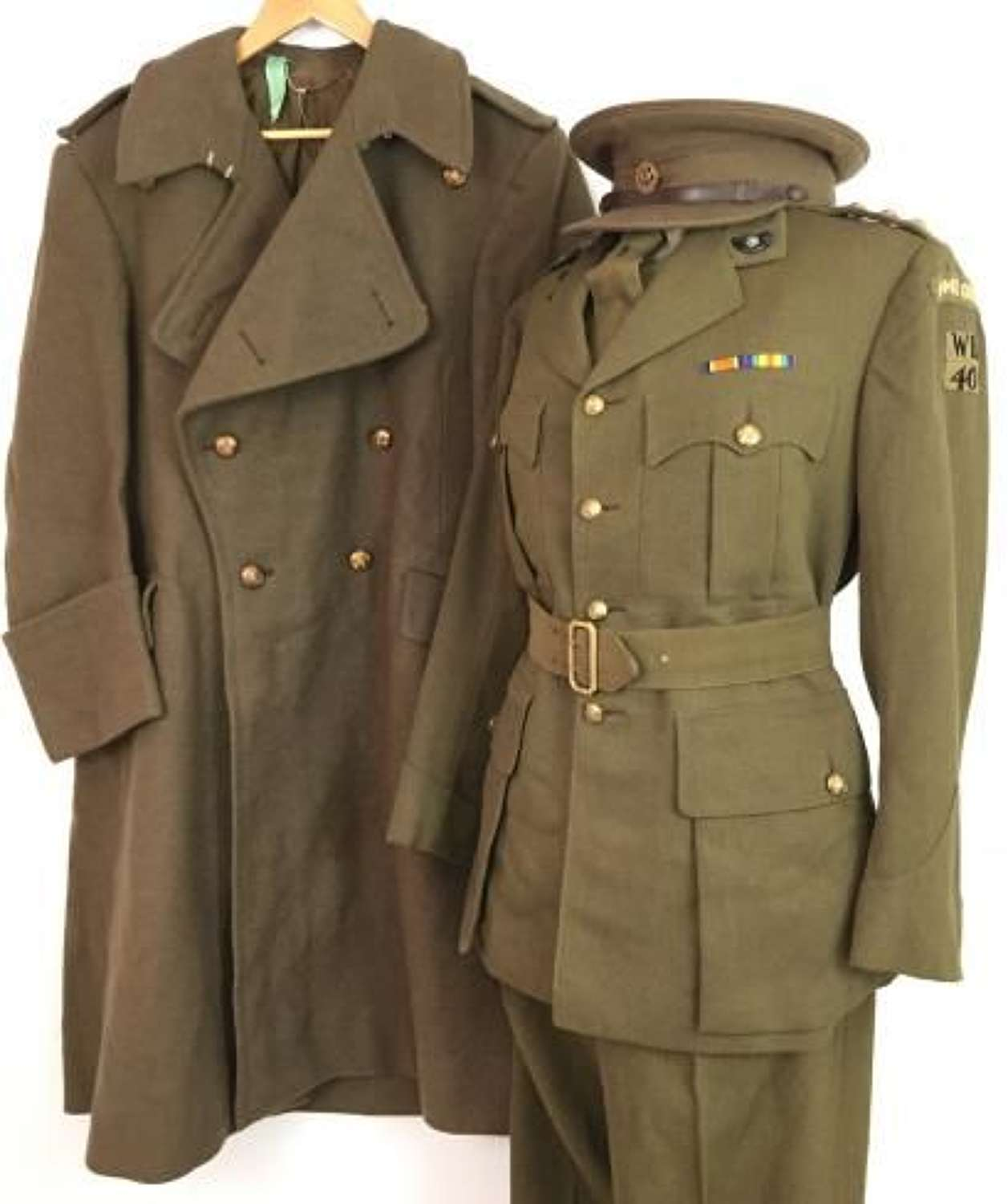 Original WW2 Home Guard Officers Uniform Grouping - 40th West Riding