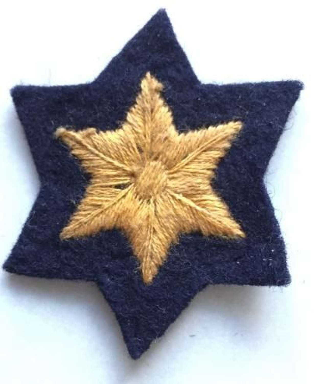 Pre 1949 Civil Defence Rank Star