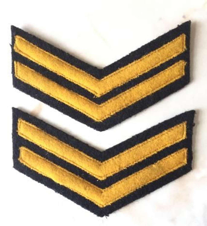 Original WW2 Era Civil Defence Senior Warden Chevrons