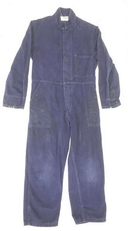 1940s Indigo Blue Coveralls By 'Harrods'