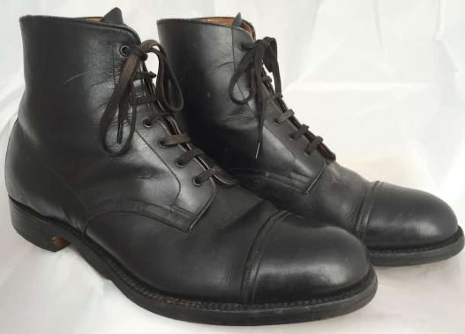1940s Black leather boots by CWS - Home Guard Boots