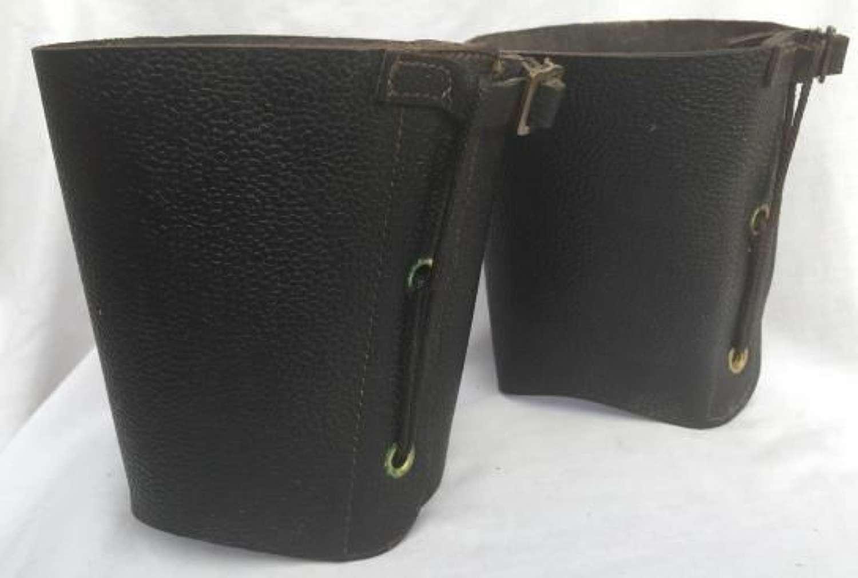 WW2 Civil Defence Leather Anklets