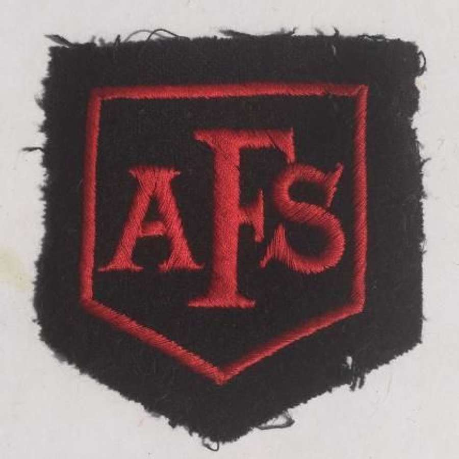 Original AFS Patch Auxiliary Fire Service Insignia