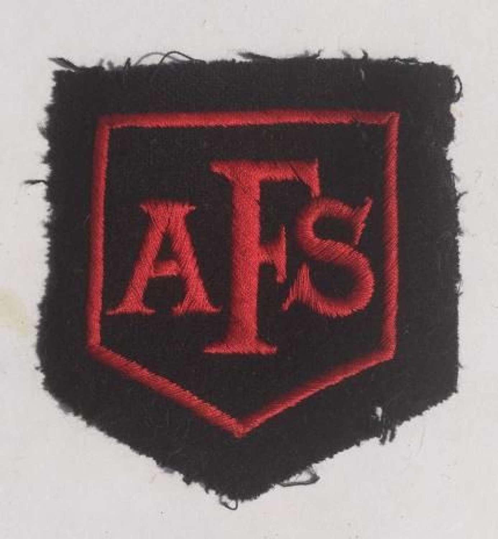 Original AFS Patch Auxiliary Fire Service Insignia