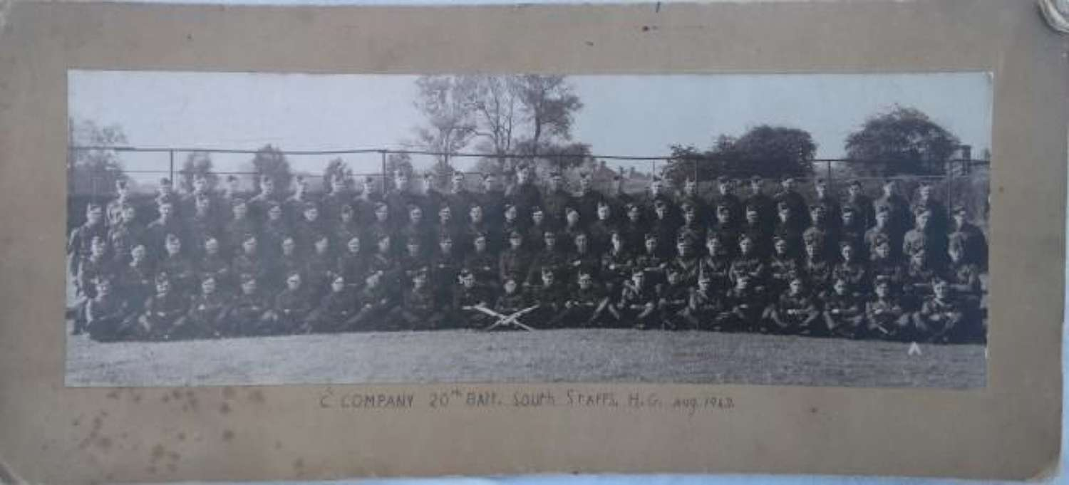 South Staffs Home Guard Group Photograph
