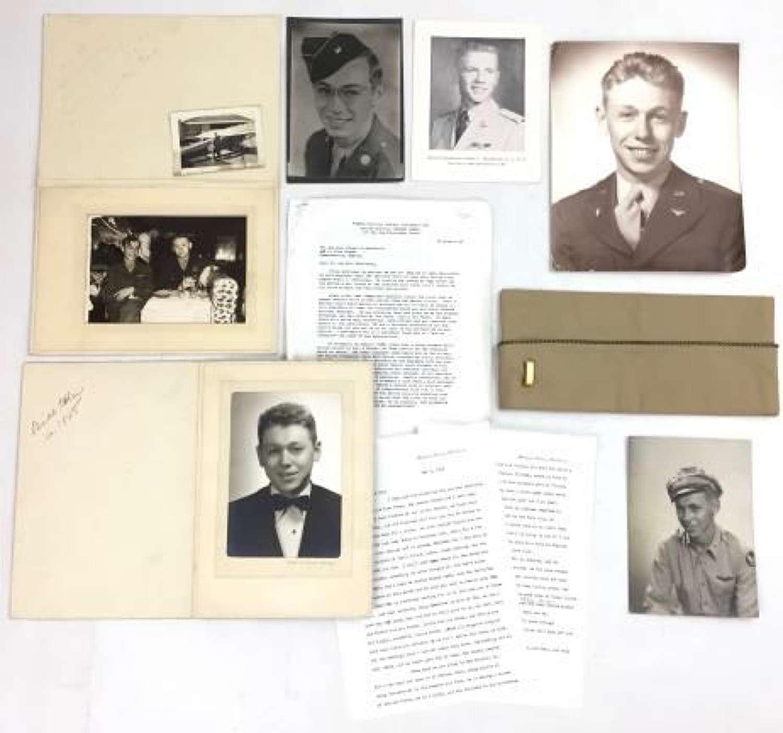 WW2 and Korea USAAF / USAF Paperwork Grouping + Garrison Cap
