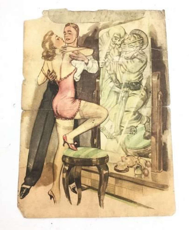 Original WW2 German Propaganda Leaflet - 'MIRROR - WISE'