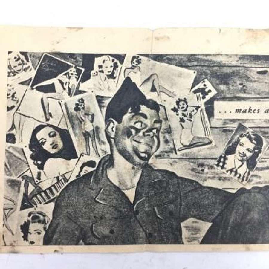 Original WW2 German Propaganda Leaflet - 'LOOK HERE GANG'