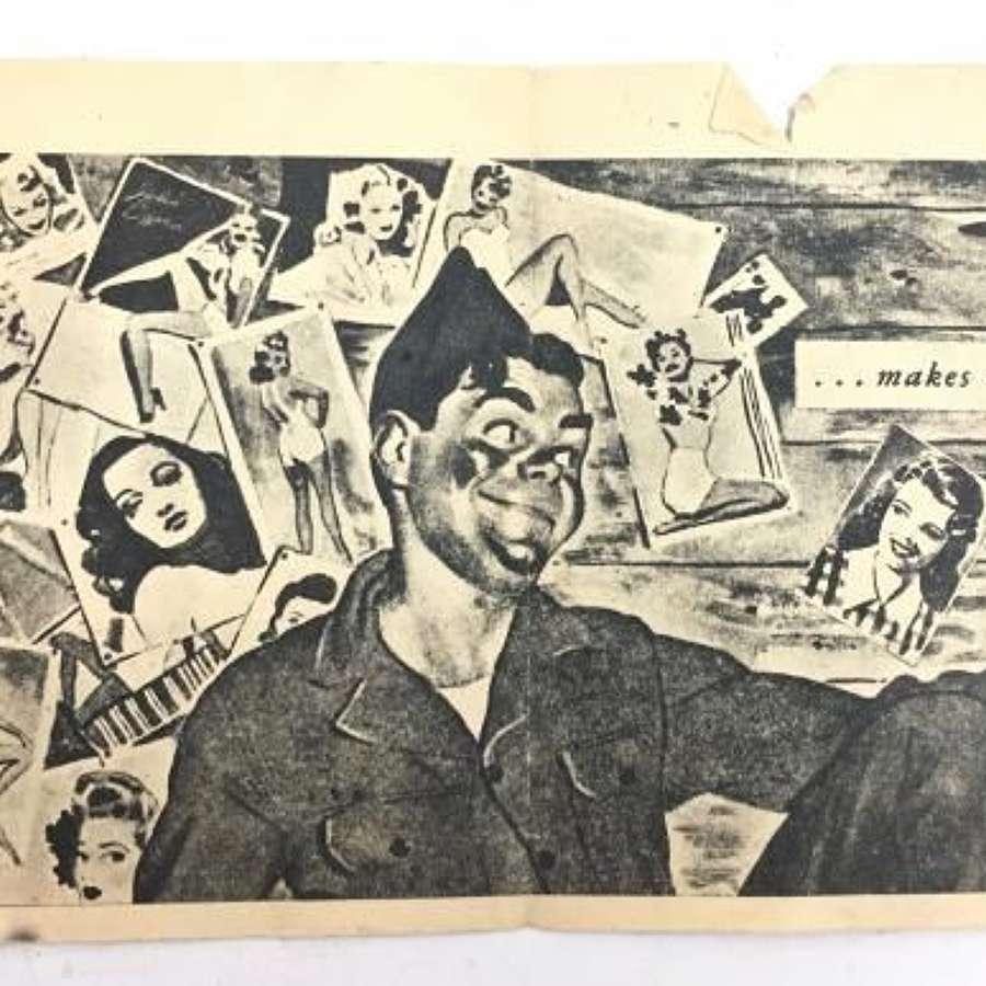 Original WW2 German Propaganda Leaflet - 'LOOK HERE GANG' (2)