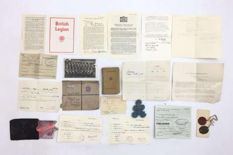WW2 Paperwork grouping to Signalman J. H. Wells