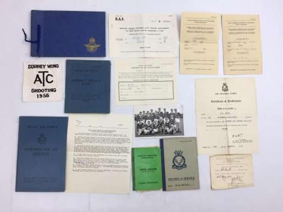 Post WW2 RAF Paperwork Grouping to SAC Smith