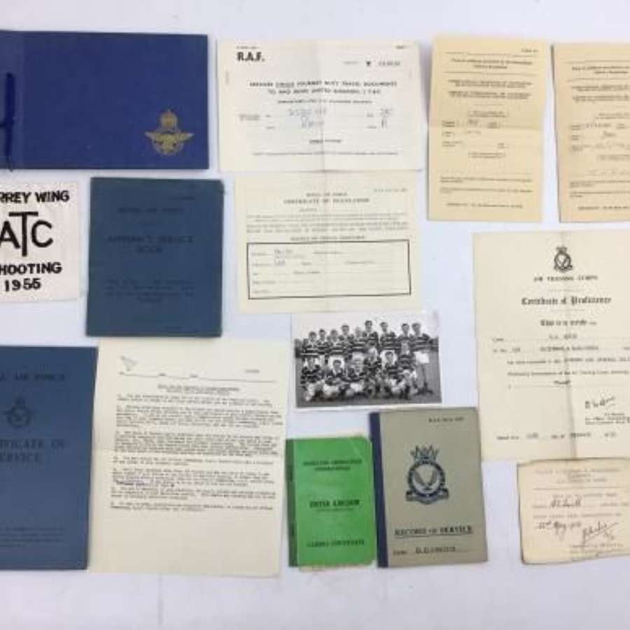 Post WW2 RAF Paperwork Grouping to SAC Smith