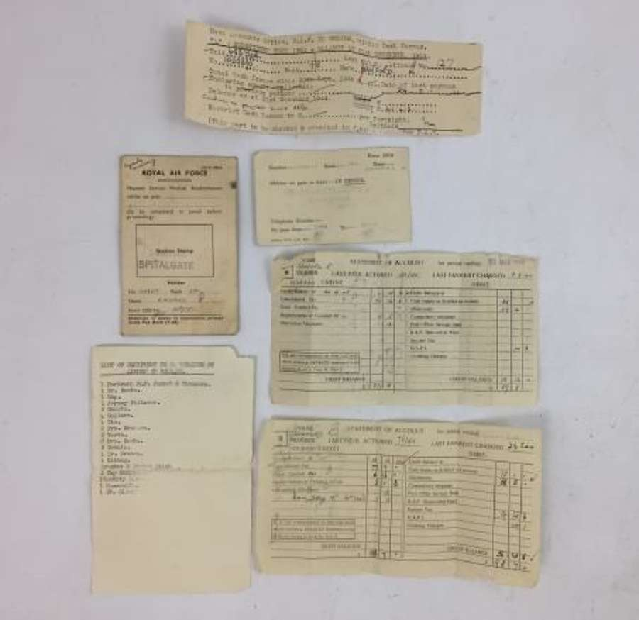 Paperwork Grouping Named To 1029310 Cpl Bamford - 683 Squadron