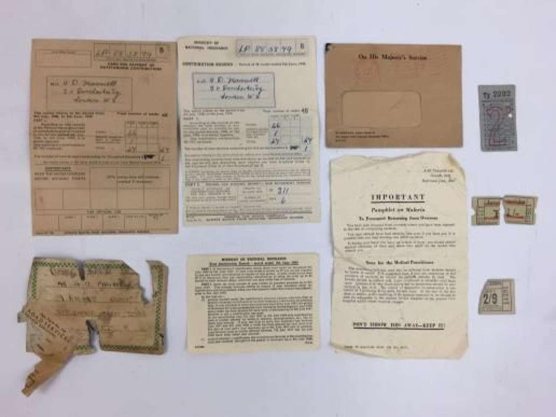 Orignal RAF paperwork to LAC Maxwell