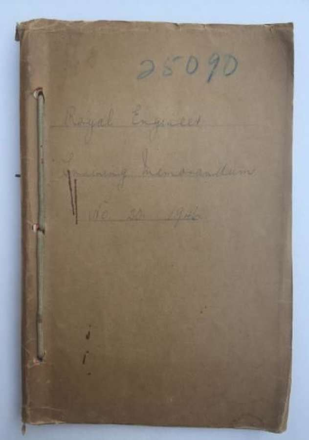 Royal Engineers Training Memorandum Pamplet 1946