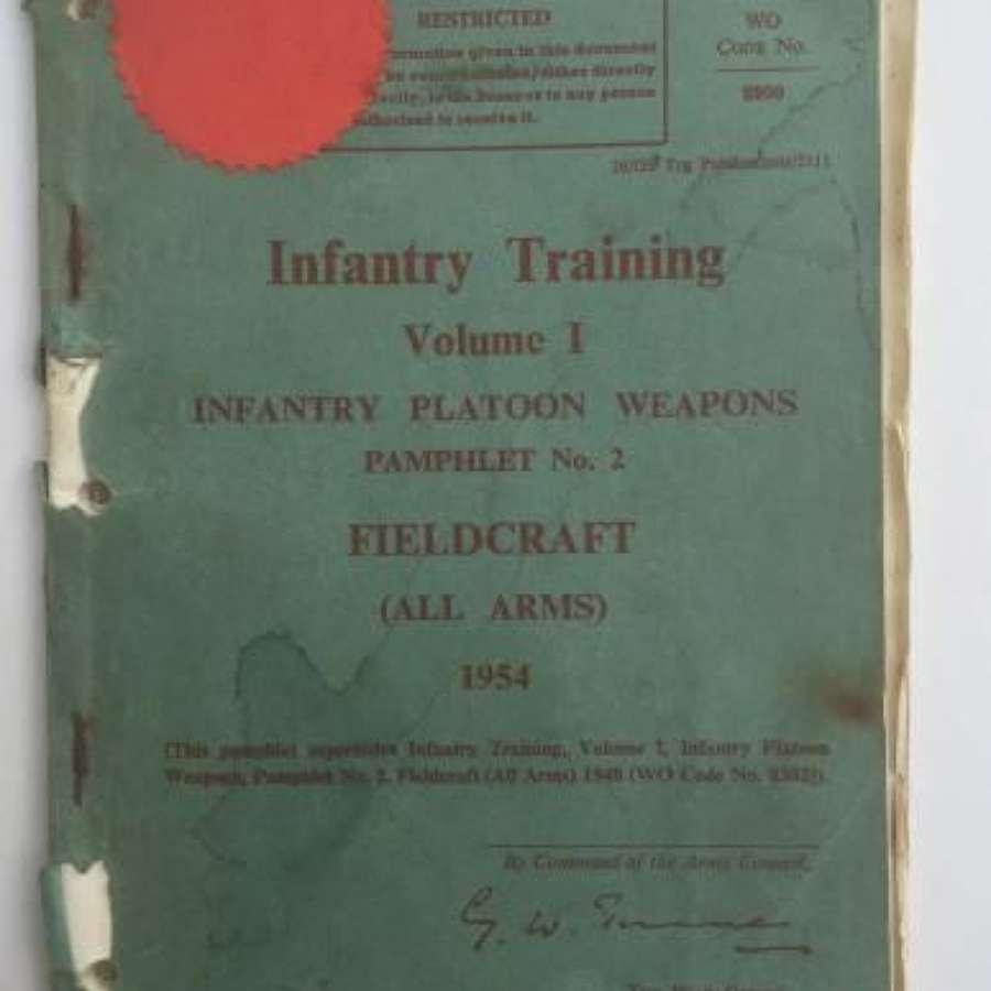 Infantry Training Manual 'Fieldcraft' Dated 1954