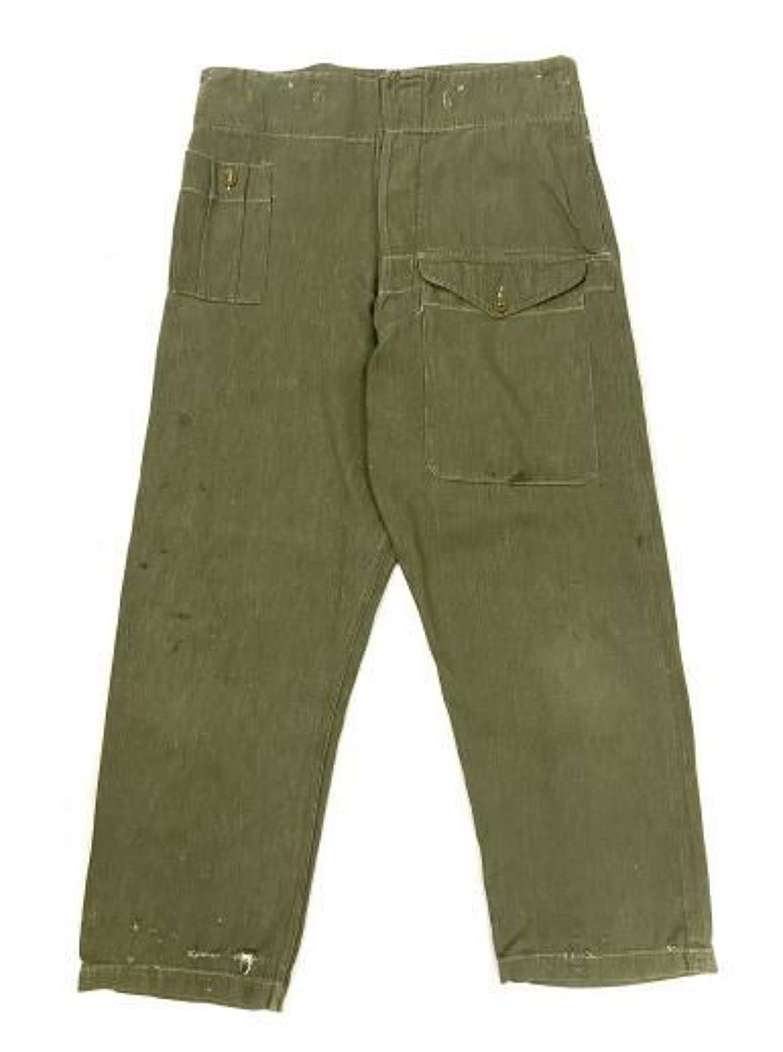 Original 1952 Dated British Army Denim Battledress Trousers - Size No. 4