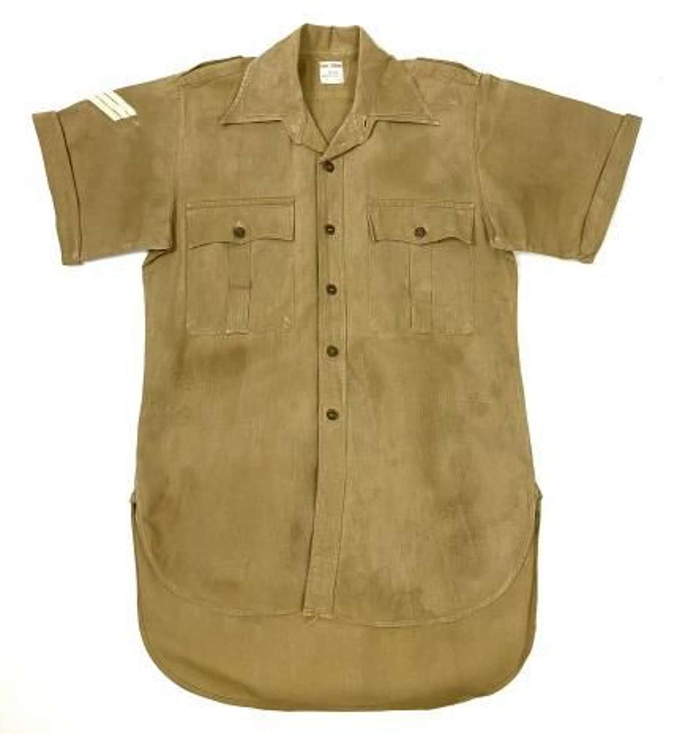 Original 1963 Dated British Army Aertex Khaki Drill Shirt