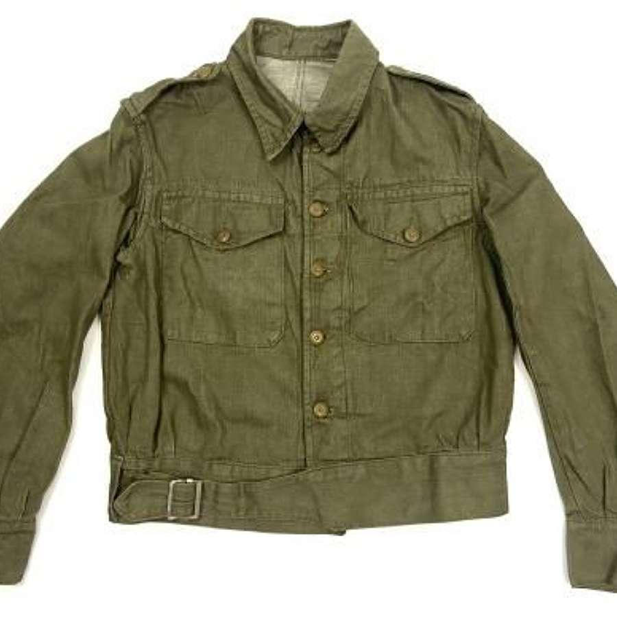 Original 1954 Dated British Army Denim Battledress Blouse - Size 5