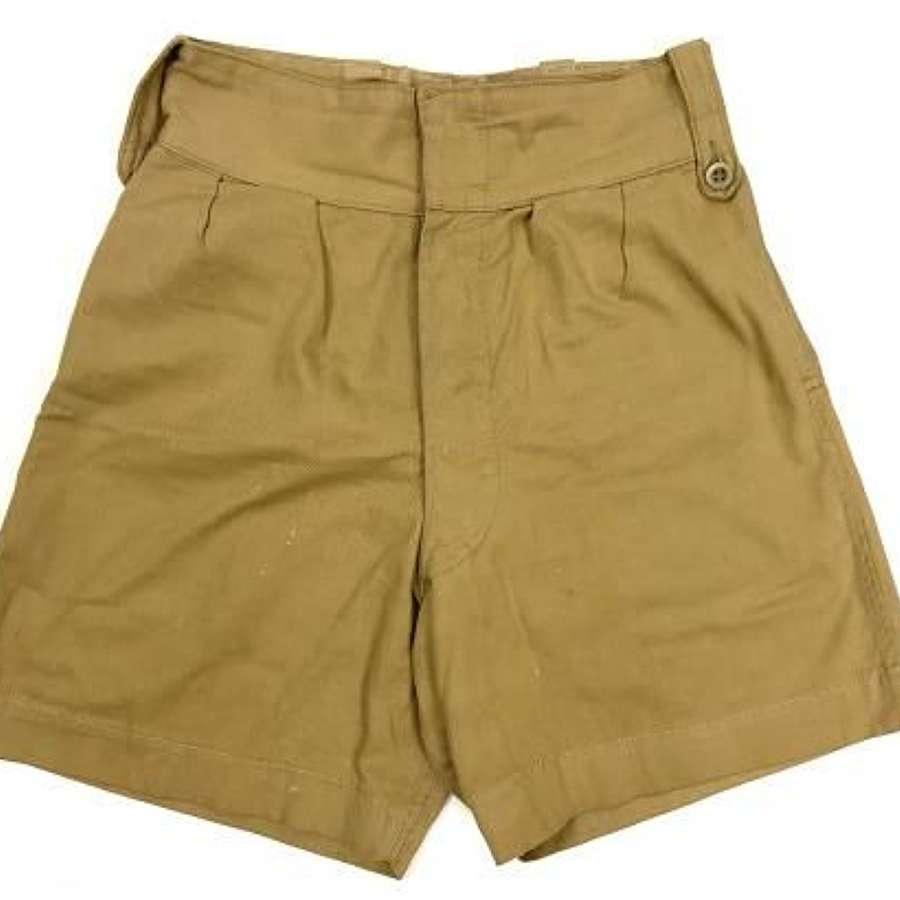 Original 1950s British Made Khaki Drill Shorts