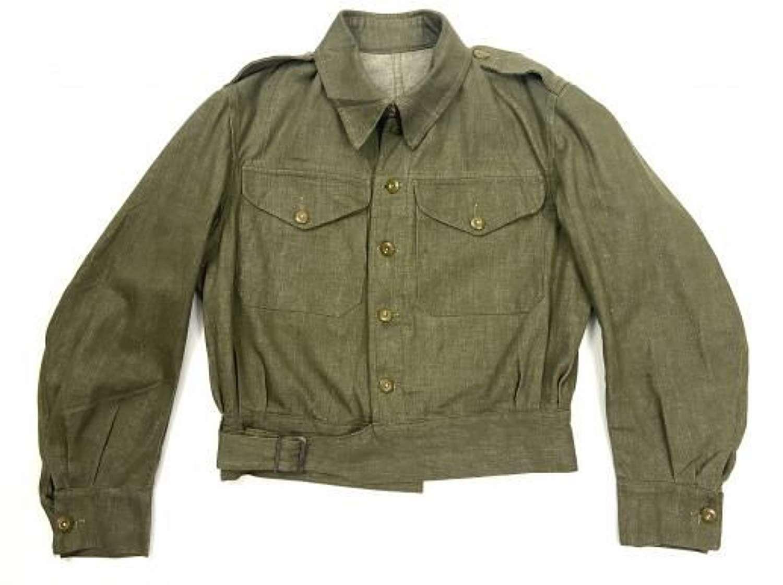 Original 1951 Dated British Army Denim Battledress Blouse - Size 6