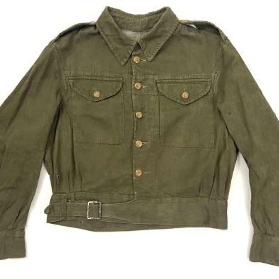 Original 1952 Dated British Army Denim Battledress Blouse - Size No.6