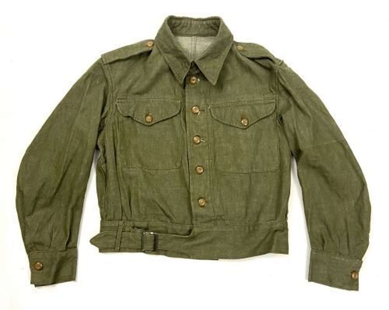 Original 1949 Dated British Army Denim Battledress Blouse - Size 6