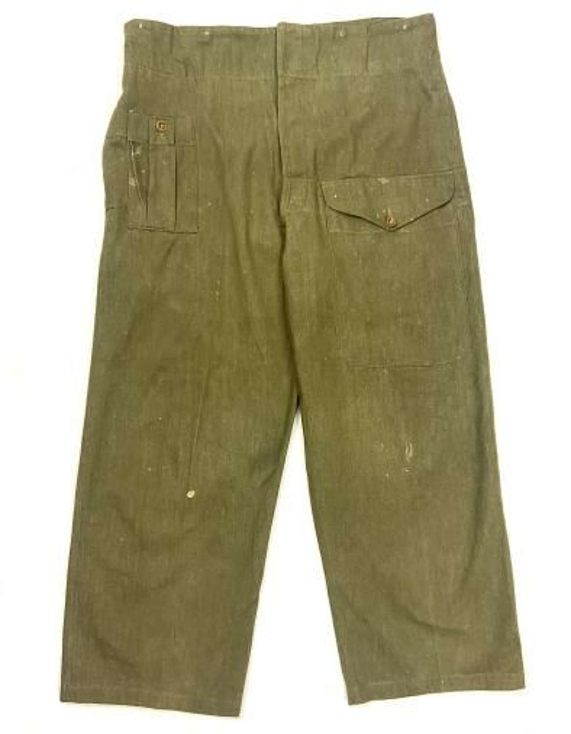 Original 1955 Dated British Army Denim Battledress Trousers