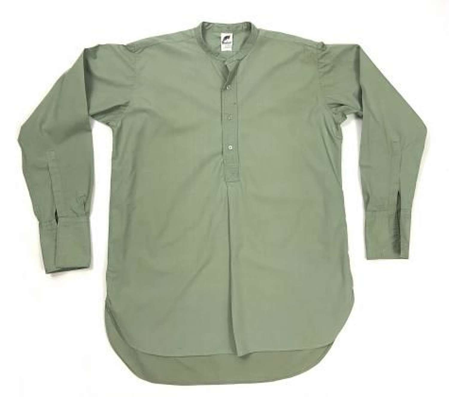 Original 1950s British Army Officers Collarless Shirt by 'Banner'