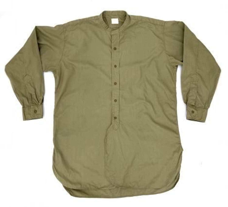 Original British Army Officers Collarless Shirt