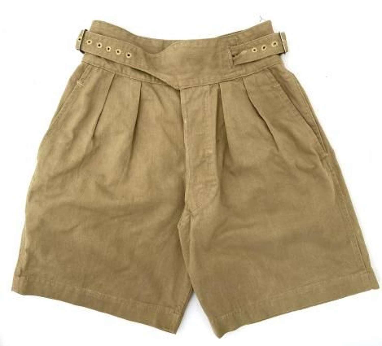 Original 1953 Dated 1950 Pattern Khaki Drill Shorts - Size 4
