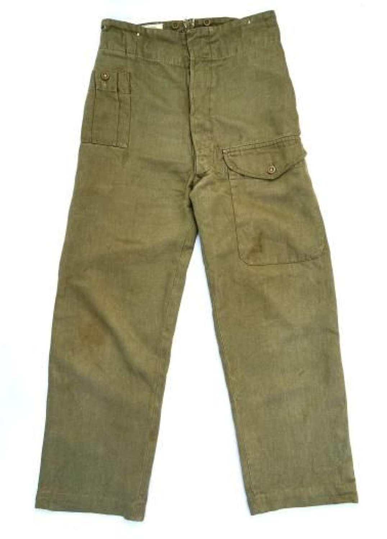 Original 1954 Dated British Army Denim Battledress Trousers